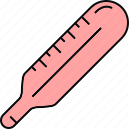 fever, medical, mercury thermometer, thermometer icon