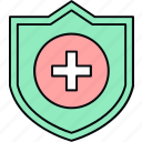 healthcare, hospital, medical, medical shield, safety, shield icon