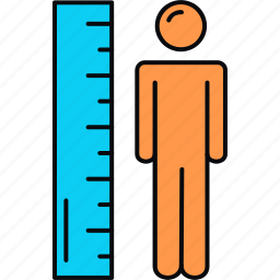 height, measure, measurement icon