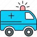 ambulance, car, emergency, healthcare, medical, van icon