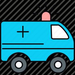 ambulance, car, emergency, healthcare, medical, van icon