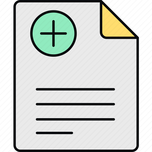 details, document, medical, notice, page, paper, report icon