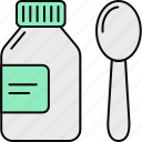 drug, healthcare, medical, medication, medicine, syrup, syrup bottle icon
