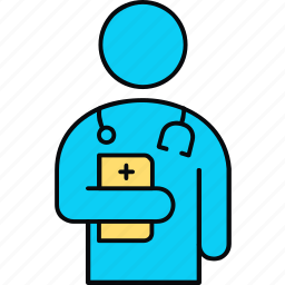 doctor, healthcare, male, medical, practitioner, profile icon