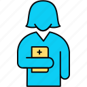 avatar, doctor, female, medical, nurse, sister, woman icon