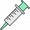 healthcare, injection, medical, syringe, treatment, vaccination, vaccine icon