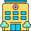 building, healthcare, hospital, medical icon