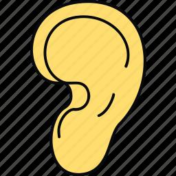 body, ear, human, part icon