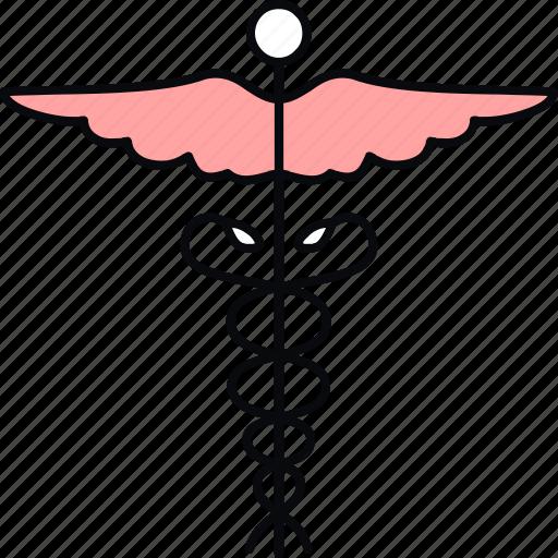 caduceus, health, healthcare, hospital, logo, medical, symbol icon