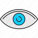 eye, eyes, look, see, view, visible, vision icon