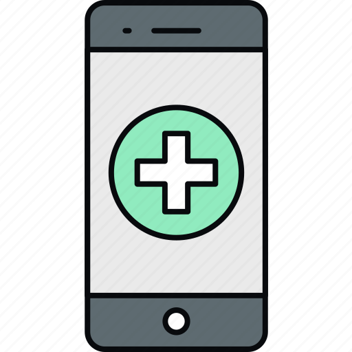 healthcare, hospital, medical, medicine, mobile, phone, search icon