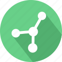 coordinates, dna, share icon