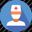 medical, nurse, nurse in operation theatre icon
