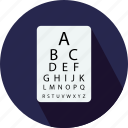 eye side test, eye sight testing, eye test, eye testing chart, medical icon