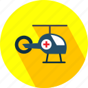 helicopter, medical, transport icon