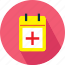 calendar, medical, medical table icon