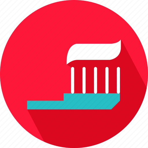 brush, health, medical, paste on brush, tooth brush, tooth paste icon