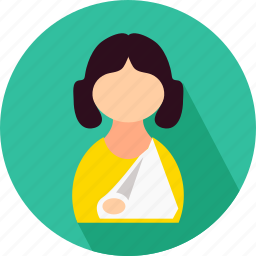 female, female patient, girl, medical, patient icon