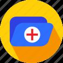 folder, medical, medical folder icon