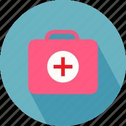 medical bag, medical briefcase, medical sign icon
