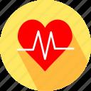 heart, heart beat icon
