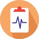 clipboard, heart beat, medical checklist, medical clipboard icon