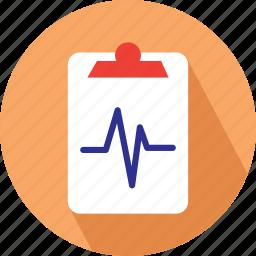 clipboard, heart beat, medical checklist, medical clipboard icon