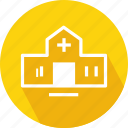 building, hospital, medical building icon
