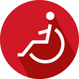 patient on wheel chair, wheel chair icon