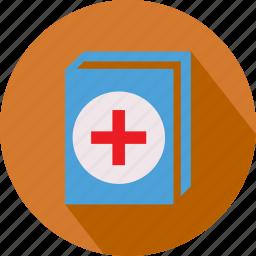 book, box, medical icon