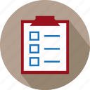 check list, checklist, list, marking list, reminder list, reminders, to do list icon