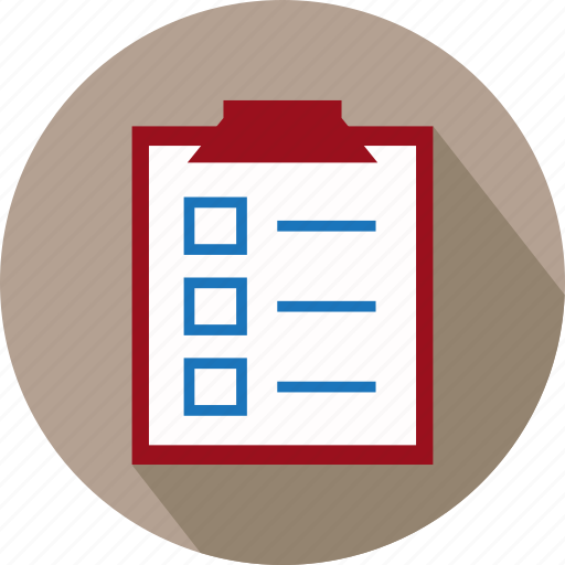 check list, checklist, list, marking list, reminder list, reminders, to do list icon