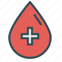blood, cross, drop, healthcare, medical icon
