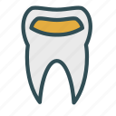 cavity, dental, filling, teeth icon