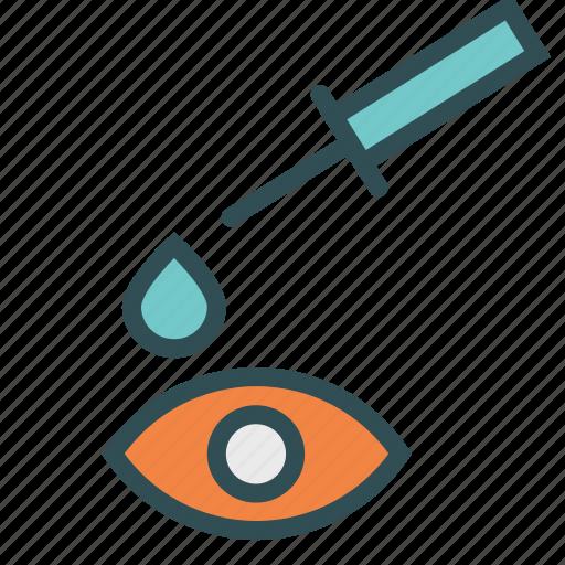 drop, eye, syringe icon