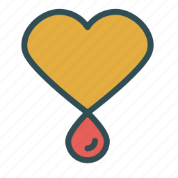 blood, care, drop, heart icon