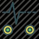 circle, life, monitor, signal icon