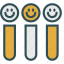 container, face, flask, medical, smiley, test, tube icon