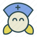 doctor, female, nurse icon