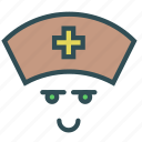 avatar, cross, face, medical, nurse icon