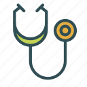 doctor, equipment, instrument, medical, stethoscope, tool icon