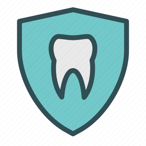 protection, shield, teeth, tooth icon