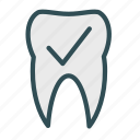 check, ok, teeth, tooth icon
