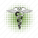 health, hospital, icomics icon, medical, pharmaceutical, snake icon