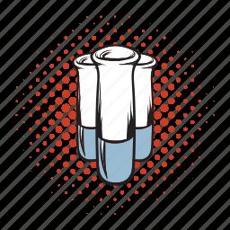 biology, comics icon, laboratory, liquid, medicine, science, tube icon