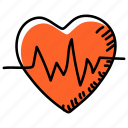 heart pulse, heart rate, heartbeat, beating heart, cardiography