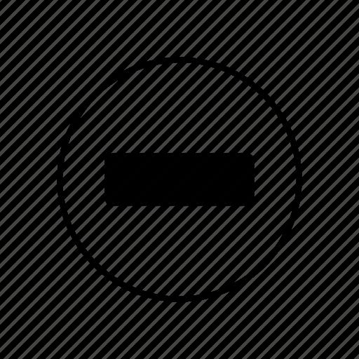 less, minus, minus sign, minus symbol, negative, teeth icon