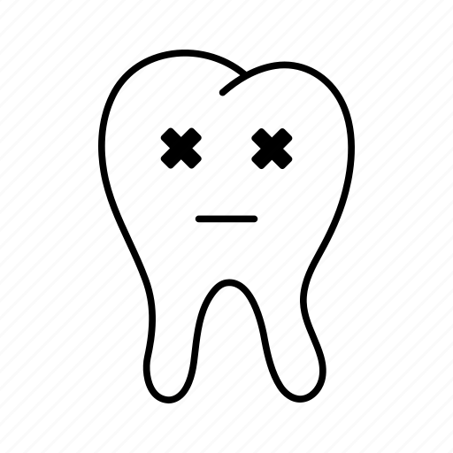 dental, dentist, emoji, medicine, stomatology, tooth, tooth emoji icon