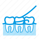 dental, dentistry, floss, medical, teeth icon