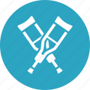 crutches, healthcare, medical equipment icon
